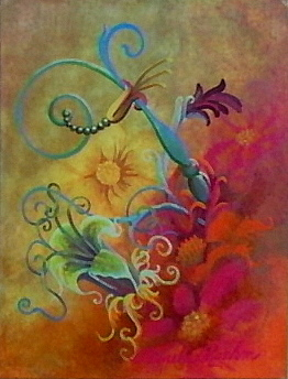 Floral Painting - Point De Vue by Pamela Roehm