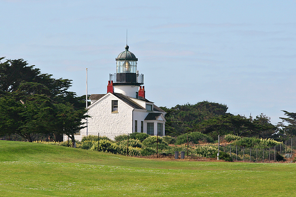 Point Pinos Lighthouse Photograph - Point Pinos Light - Lighthouse On The Golf Course - Pacific Grove Monterey Central Ca by Christine Till