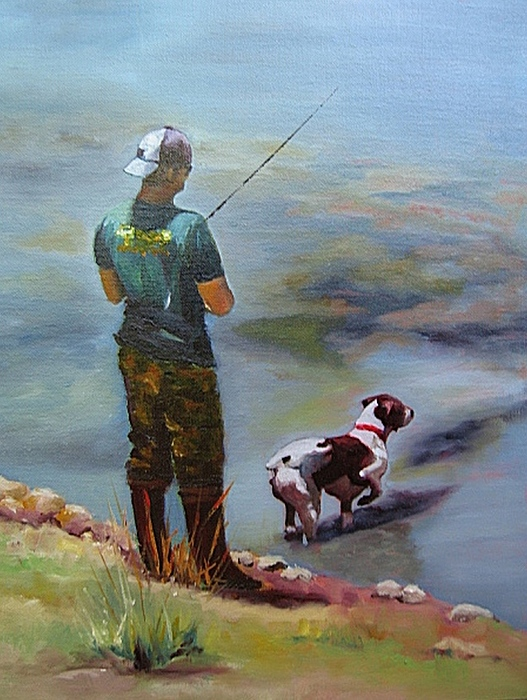 Animal Painting - Pointin Fish by Vicki Brevell