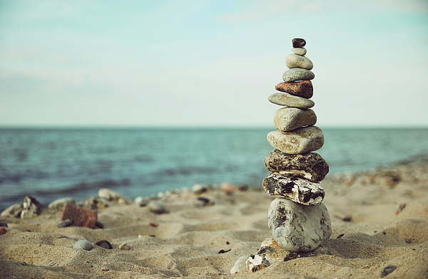 Stones Photograph - Poised by Hannes Cmarits