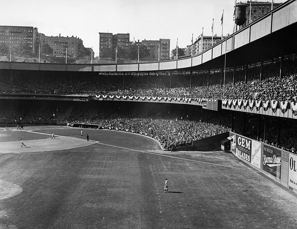1930s Candid Photograph - Polo Grounds, During The First Game by Everett