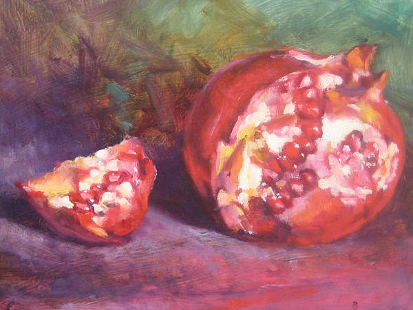Still Life Painting - Pomegranate by Susan Jenkins