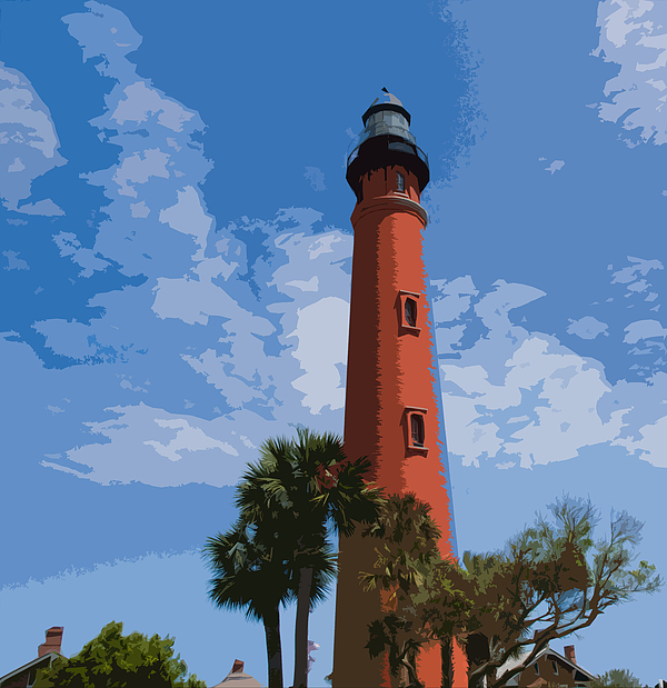 Light Painting - Ponce Inlet Light by Allan  Hughes