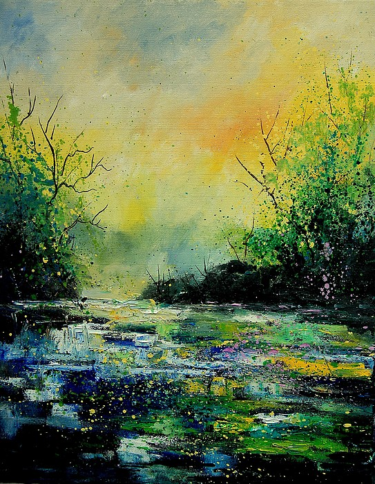 Water Painting - Pond 459060 by Pol Ledent