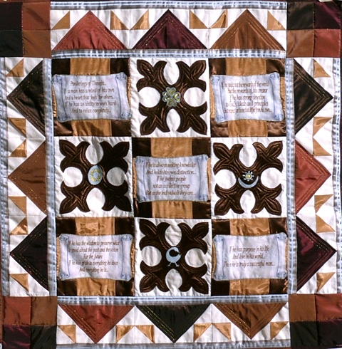 Quilt Tapestry - Textile - Pondering Of Thought by Tracie L Hawkins