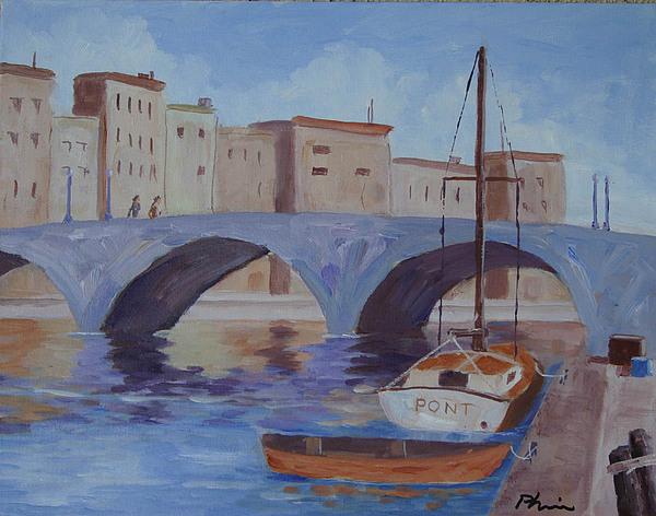 Paris Painting - Pont Nuef by Bob Phillips