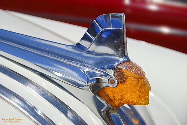 Pontiac Photograph - Pontiac Hood Ornament by Larry Keahey