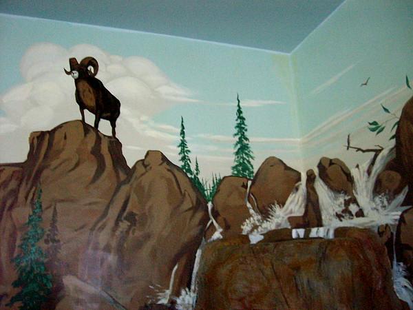 Mural Painting - Poolroom by David  Larcom