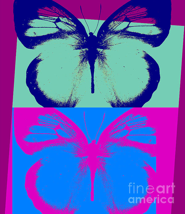 Butterfly Painting - Pop Art Morphosis by Mindy Sommers