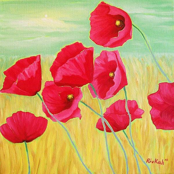 Poppies Painting - Pop Pop Poppies by Rivkah Singh