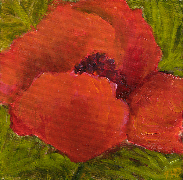 Diptych Painting - Poppies Diptych A by Rita Bentley