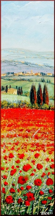 Quadri Painting - Poppies Field by Antonio Berti