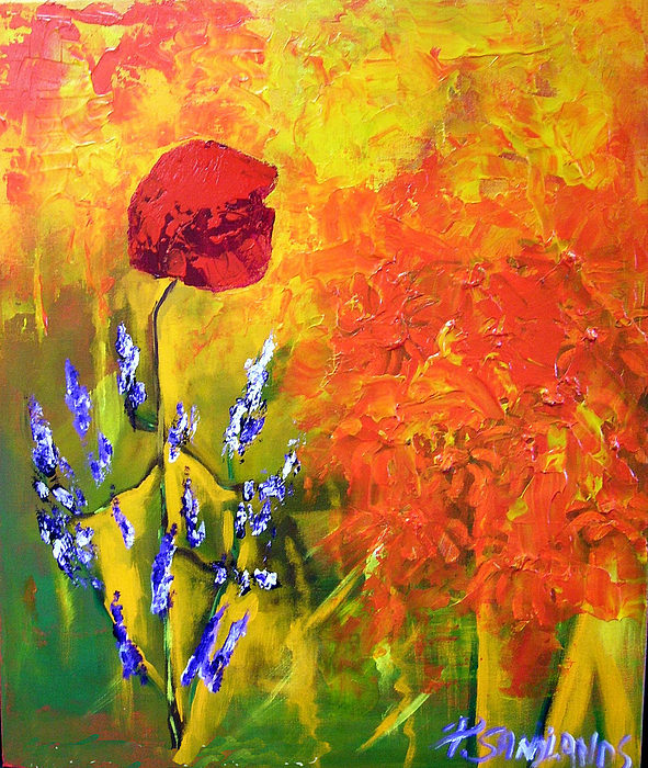 Poppies Painting - Poppies by Paul Sandilands