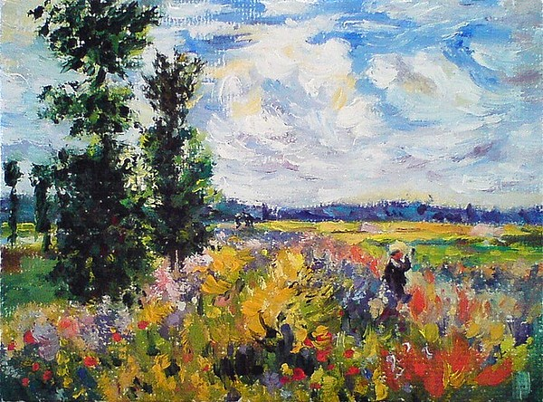 Claude Painting - Poppy Field At Argenteuil by Peter Kupcik