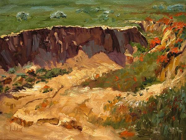 Landscape Painting - Poppy Gorge by Barbara Andolsek