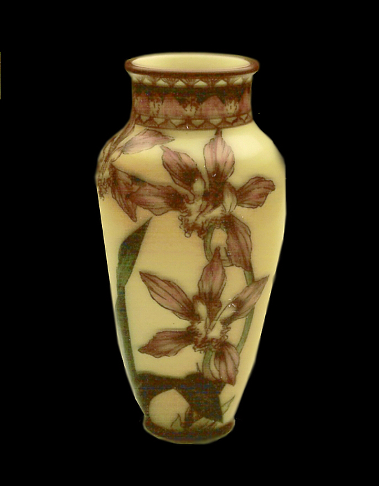 Vase Ceramic Art - Porcelain Orchid by Mary Favero