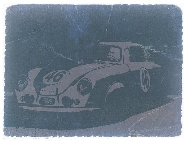 Vintage Car Photograph - Porsche 356 Coupe Front by Naxart Studio