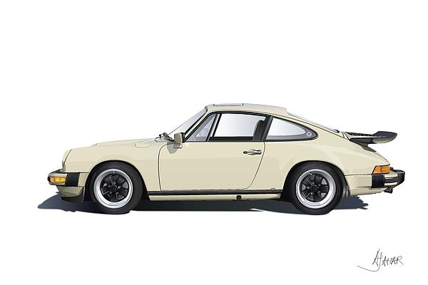 Germany Digital Art - Porsche 911 Carrera by Alain Jamar