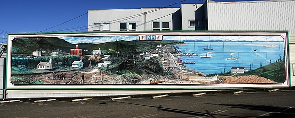 Panoramic Photography Photograph - Port Angeles 1914 Mural by David Lee Thompson