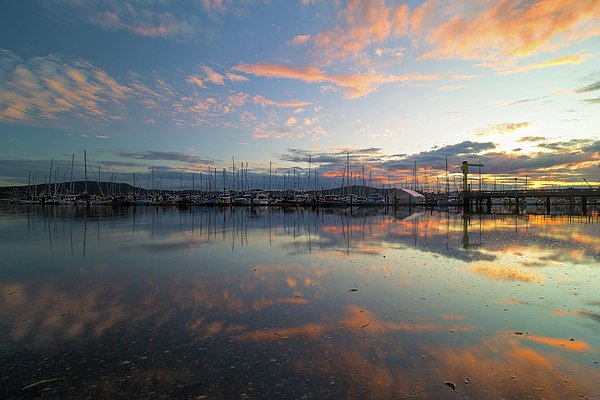 Port Photograph - Port Of Anacortes Marina At Sunset by David Gn