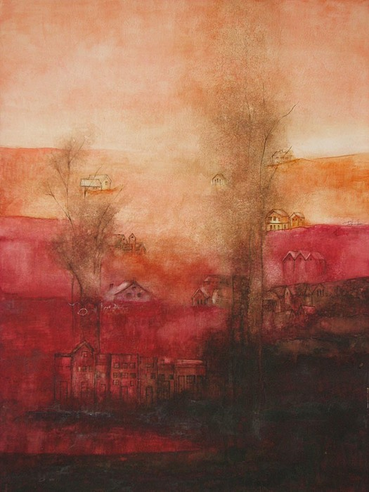 Landscape Painting - Portland At Dusk 1864 by Tokiko Anderson