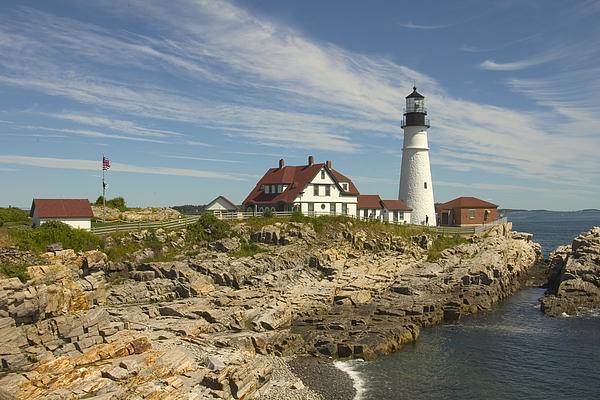 Lighthouse Photograph - Portland Head Lighthouse by Mike McGlothlen
