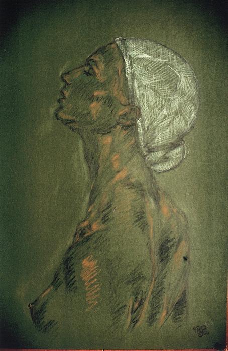 Portrait Pastel - Portrait 65 by Mohd Raza-ul Karim