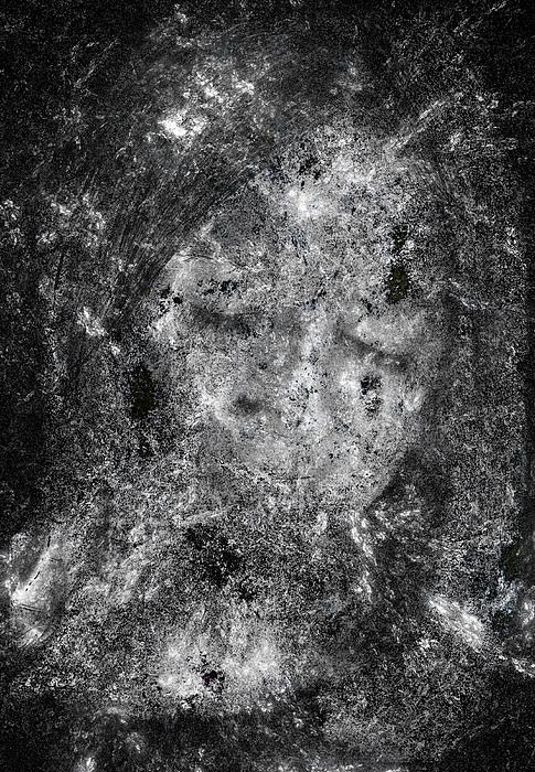 Abstract Digital Art - Portrait In Black by Randy Steele