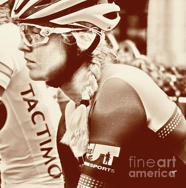 Bicycle Photograph - Portrait In Cycling  by Steven Digman