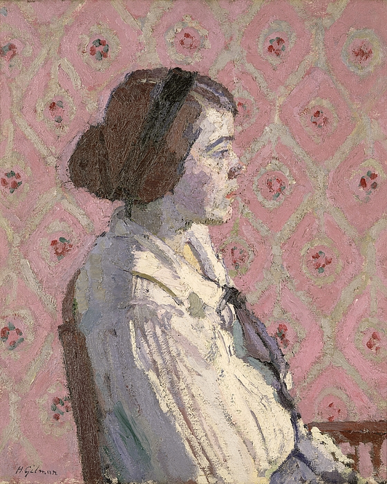 Portrait Painting - Portrait In Profile by Harold Gilman