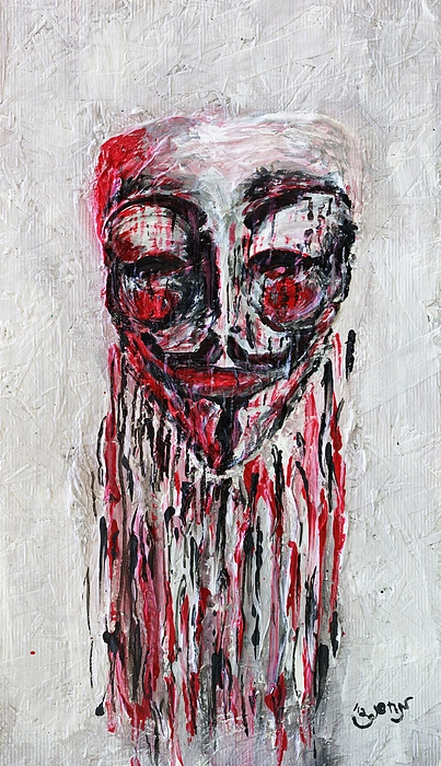 Portrait Painting - Portrait Melting Of Anonymous Mask Chan Wikileak Occupy Guy Fawkes Sopa Mpaa Pirate Lulz Reddit by M Zimmerman MendyZ