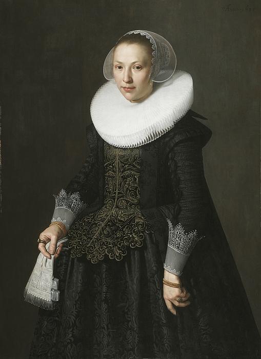 Portrait Painting - Portrait Of A Lady by Nicolaes Eliasz