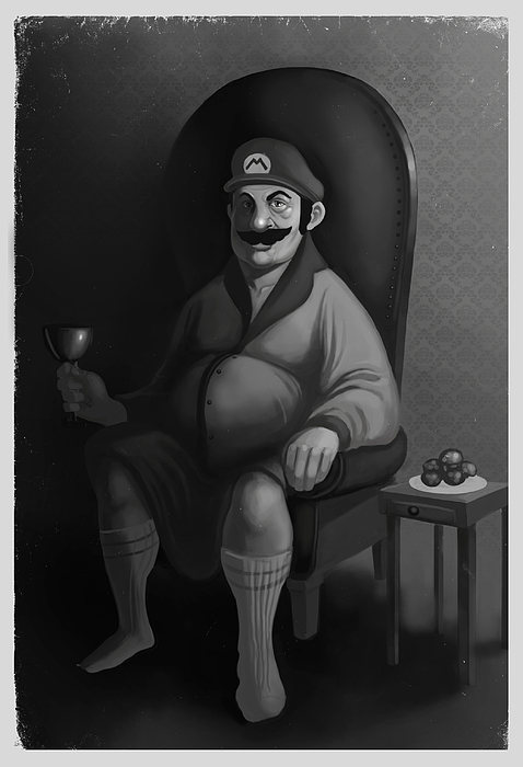 Mario Digital Art - Portrait Of A Plumber by Michael Myers