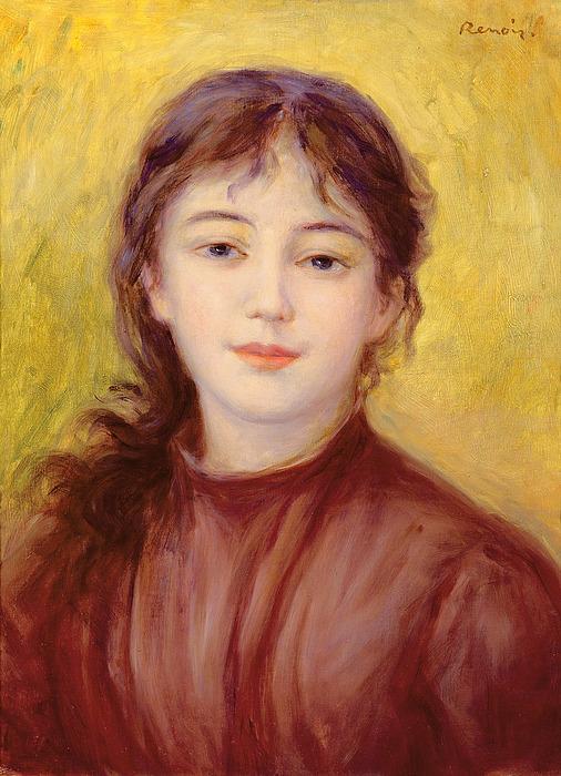 Portrait Painting - Portrait Of A Woman by Pierre Auguste Renoir