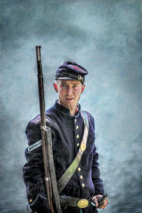 Portrait Of A Young Union Civil War Soldier Digital Art by ... Young Civil War Union Soldiers