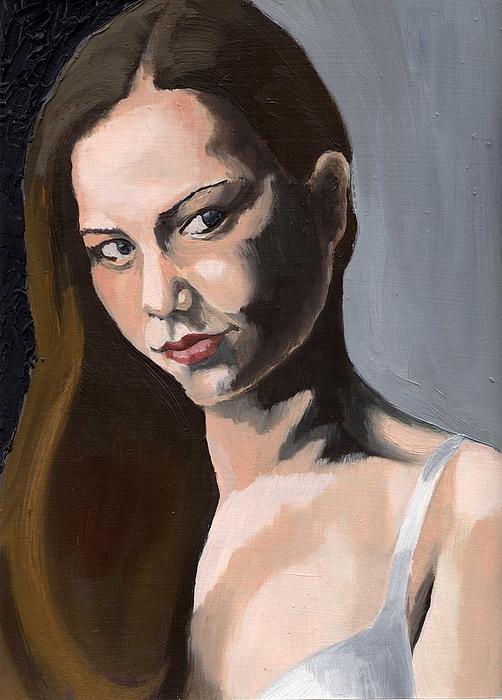 Portrait Painting - Portrait Of Amanda by Stephen Panoushek
