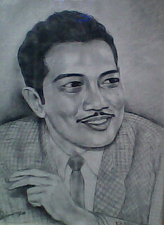 Legendary Drawing - Portrait Of An Artist by Suhaimy Abdullah