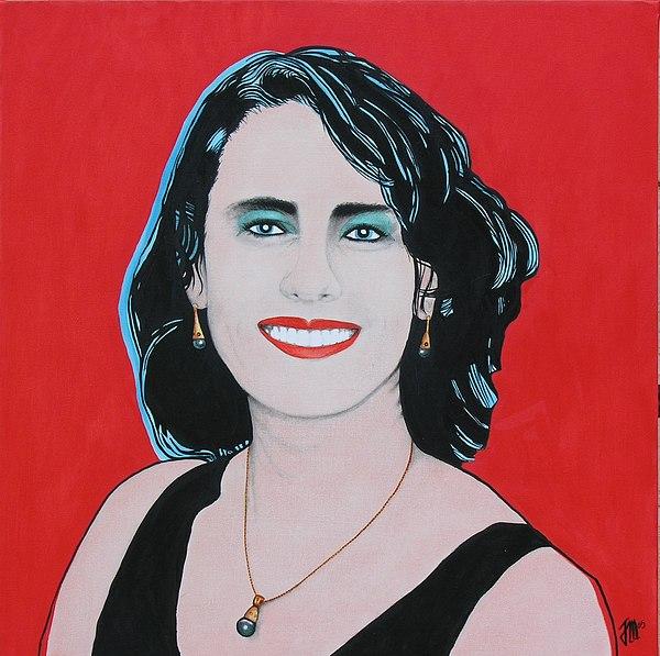 Portrait Painting - Portrait Of Bronwyn Michelli by Joe Michelli