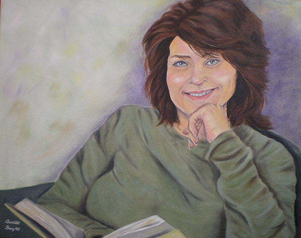 Portrait Painting - Portrait Of Denise by Annette Broy