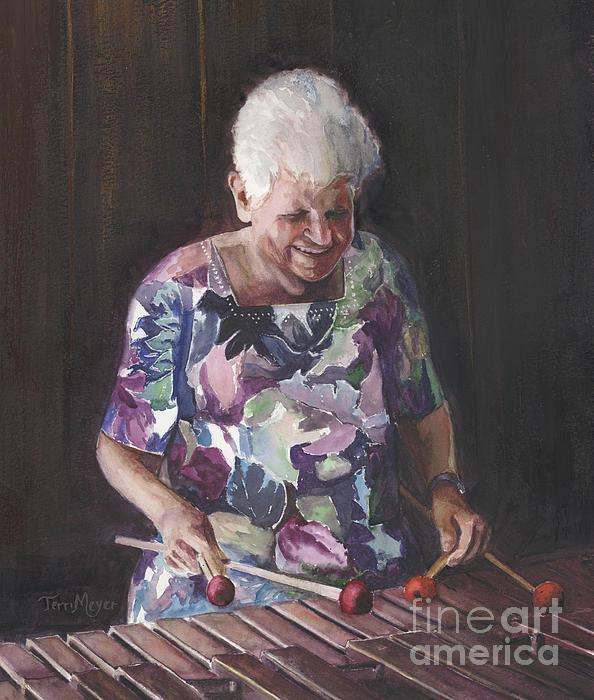 Portrait Of Edwinna Painting by Terri  Meyer