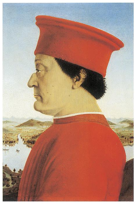 Piero Della Francesca Painting - Portrait Of Federico Da Montefeltro by Piero Della Francesca