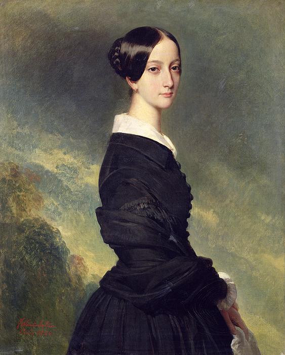 Portrait Painting - Portrait Of Francisca Caroline De Braganca by Franz Xaver Winterhalter