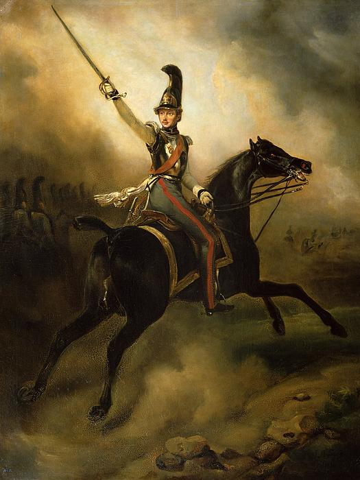 Portrait Painting - Portrait Of Friedrich Heinrich by Emile Jean Horace Vernet