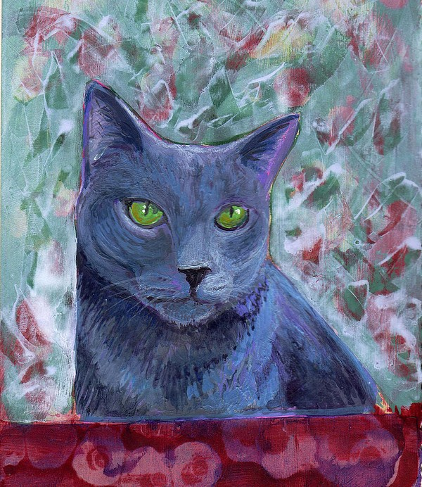 Abstract Painting - Portrait Of Grady by Gayle Bell