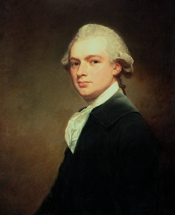 Portrait Of Henry Russell Painting - Portrait Of Henry Russell by George Romney