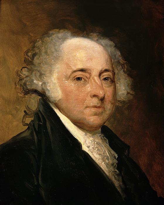 Portrait Of John Adams (oil On Canvas) By Gilbert Stuart (1755-1828) (after) Painting - Portrait Of John Adams by Gilbert Stuart