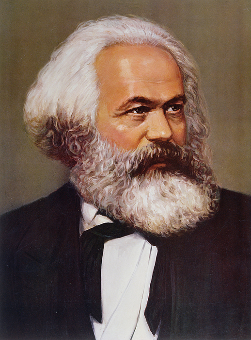 Marx Painting - Portrait Of Karl Marx by Unknown