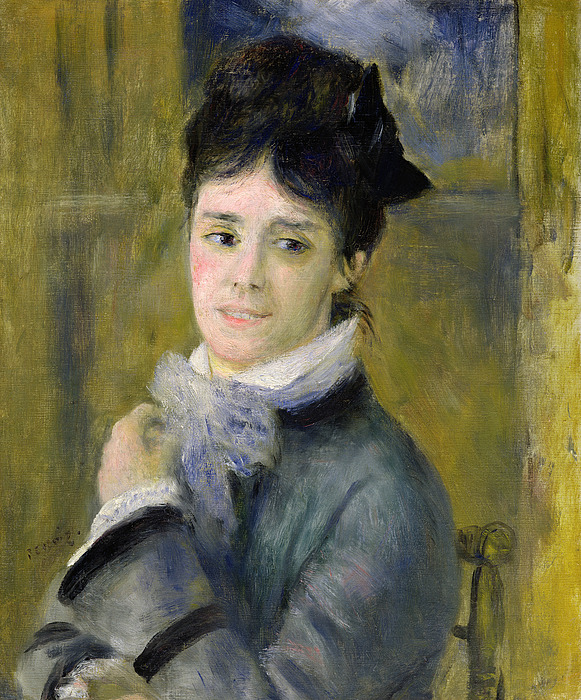 Portrait Painting - Portrait Of Madame Claude Monet by Renoir