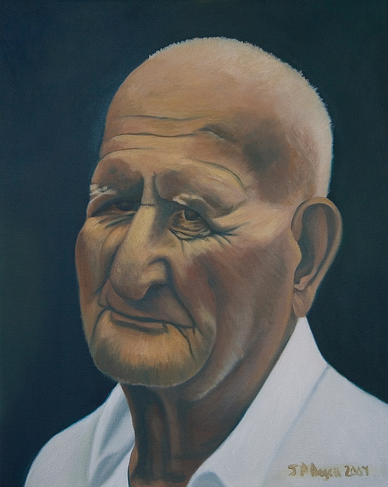 Portrait Painting - Portrait Of Old Man In St. Louis by Stephen Degan