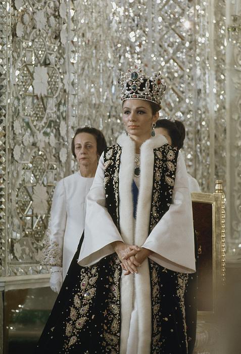 Aristocracy Photograph - Portrait Of Queen Farah Pahlavi Dressed by James L Stanfield
